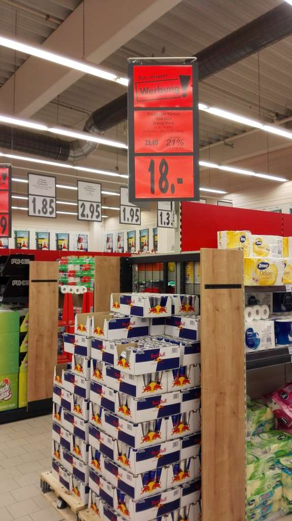 lokal k ln m hlheim kaufland redbull tray 24 st. Black Bedroom Furniture Sets. Home Design Ideas