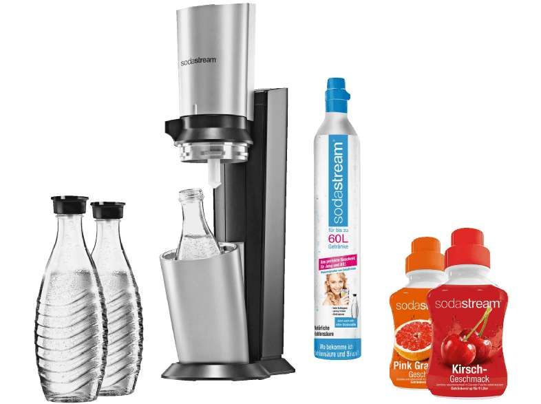 media markt sodastream 1016513495 crystal wassersprudler titan silber. Black Bedroom Furniture Sets. Home Design Ideas