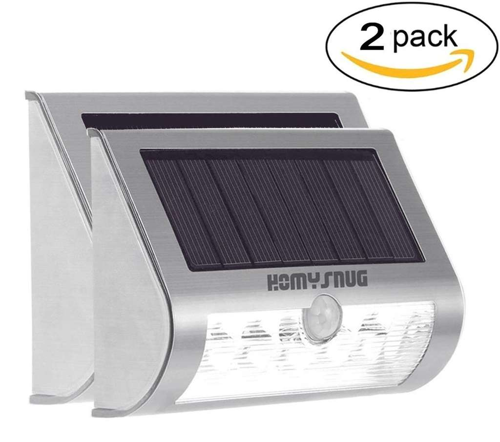 2 led solarlampen mit bewegungsmelder amazon prime. Black Bedroom Furniture Sets. Home Design Ideas