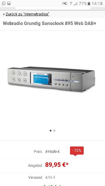 Pollin] Internetradio Grundig Sonoclock 895 Web DAB+ (mit ...