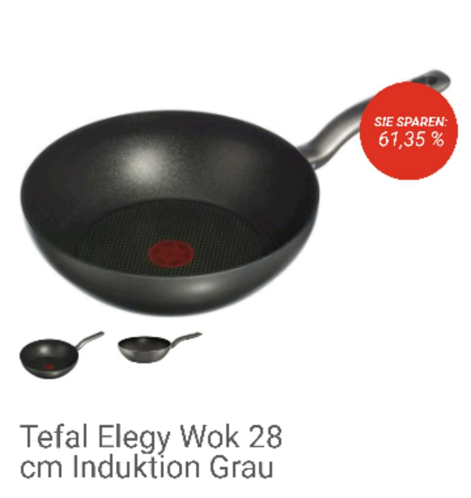 tefal elegy wok 28 cm induktion grau bei top12. Black Bedroom Furniture Sets. Home Design Ideas