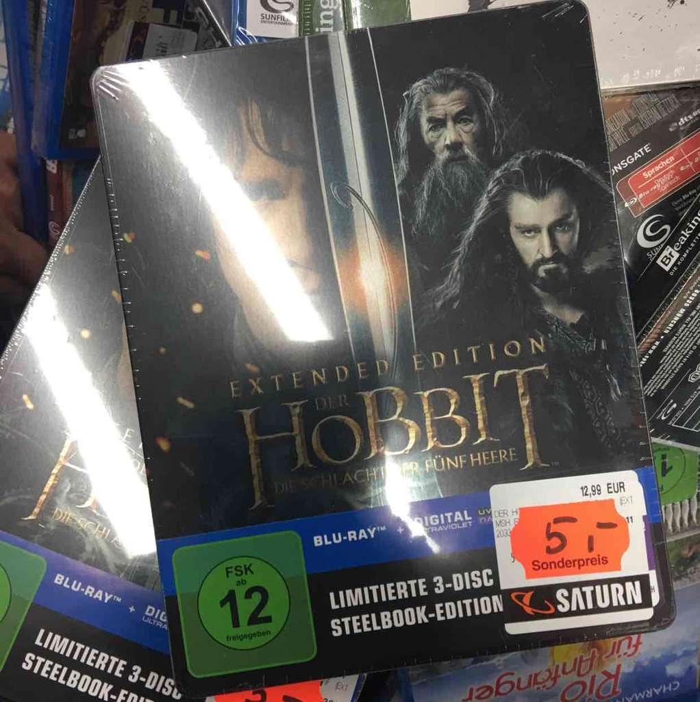 lokal saturn stuttgart hobbit extended cut steelbook 5. Black Bedroom Furniture Sets. Home Design Ideas