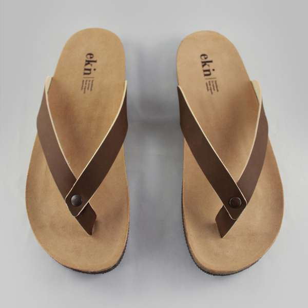 ekn leder herren sandalen zehentrenner flip flops fair. Black Bedroom Furniture Sets. Home Design Ideas