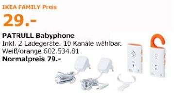 ikea family d sseldorf patrull babyphone orange 29 00 statt 79 00. Black Bedroom Furniture Sets. Home Design Ideas