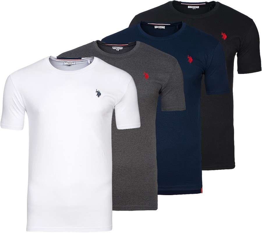 u s polo assn round neck herren t shirts in verschied. Black Bedroom Furniture Sets. Home Design Ideas
