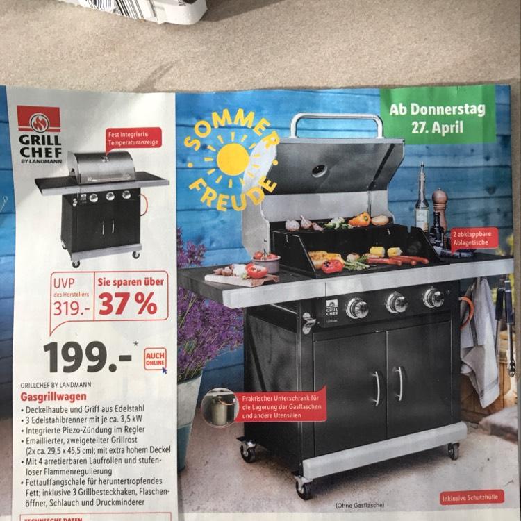 grill chef by landmann ab 27 april bei lidl. Black Bedroom Furniture Sets. Home Design Ideas