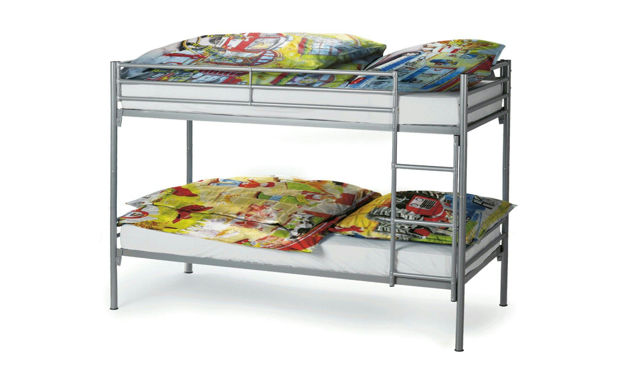 doppelbett etagenbett aus metall f r 39 offline sconto online 26. Black Bedroom Furniture Sets. Home Design Ideas