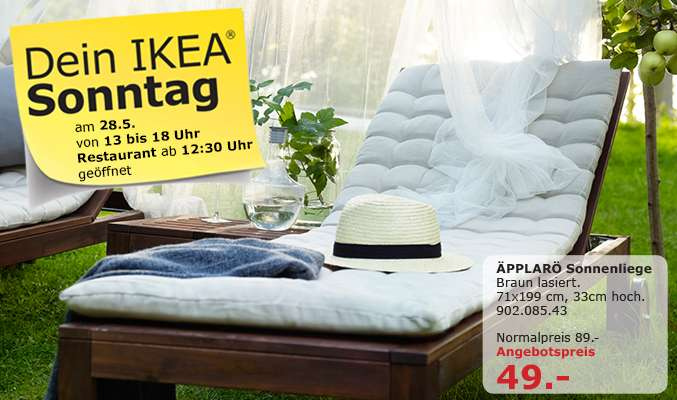 pplar sonnenliege angebot zum verkaufsoffenen sonntag bei ikea kaiserslautern. Black Bedroom Furniture Sets. Home Design Ideas