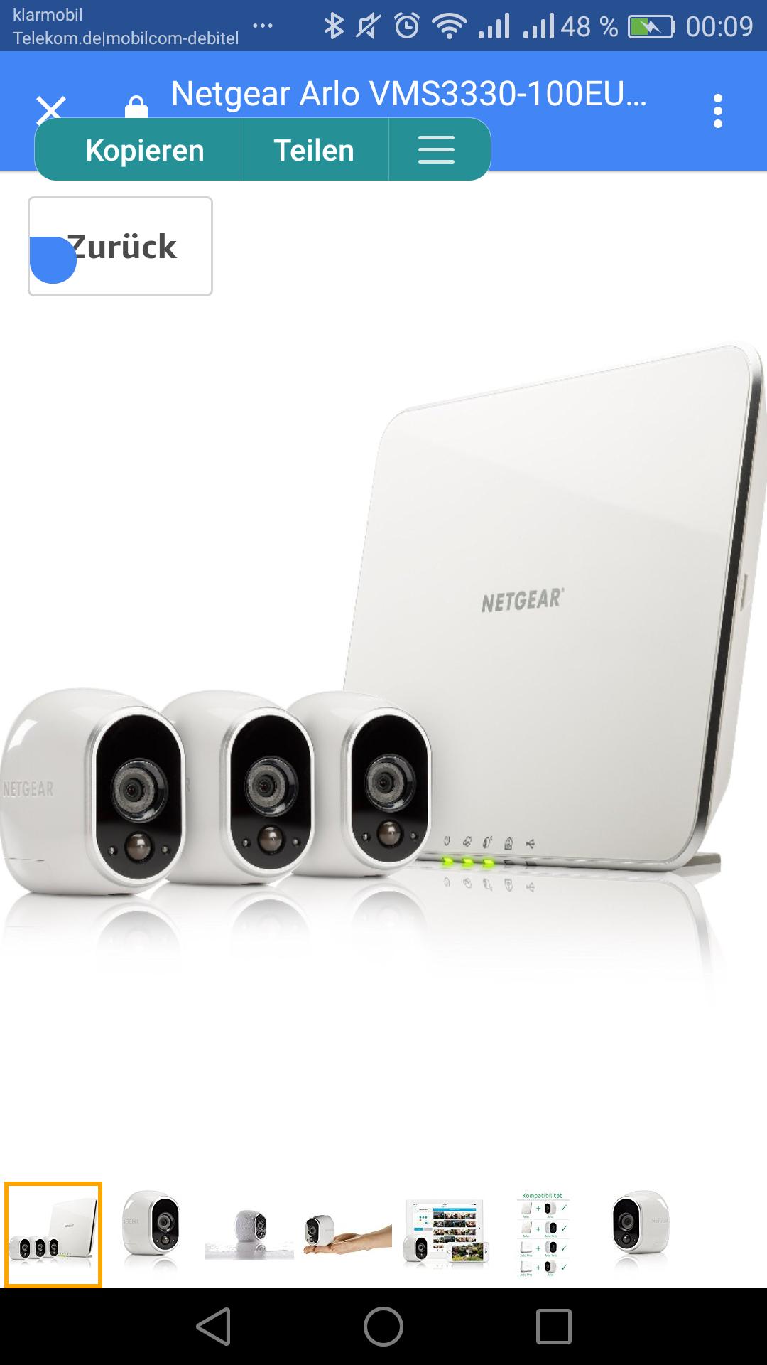 Netgear Arlo VMS3330-100EUS Smart Home 3 HD-Überwachung Kamera-Sicherheitssystem (100% kabellos, Indoor/Outdoor, Bewegungssensor, Nachtsicht) weiß , amazon ( auch mit 2 kameras *Beschreibung)