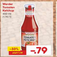 Netto-MD  WERDER Tomatenketchup versch. sorten 450ml (nicht Werder Bremen)