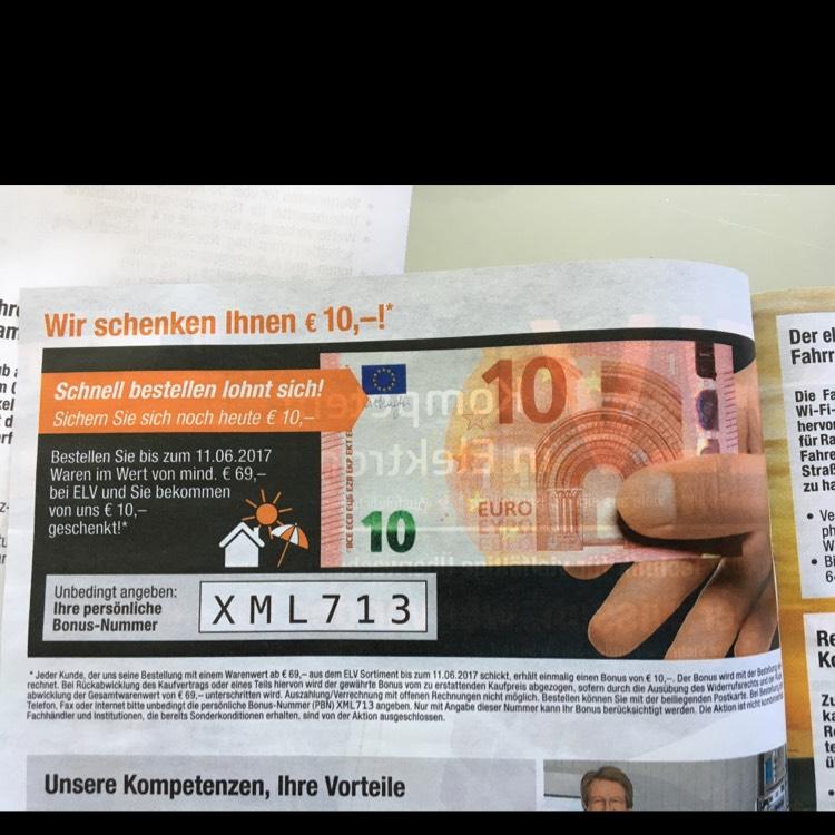 Elv 10€ bei 69€ MBW. Perfekt für HomeMatic