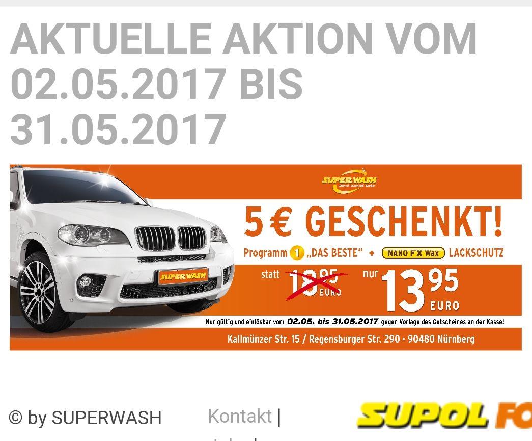 Autowäsche in Nürnberg Aktion 13.95 statt 18.95 bei Supol Superwash