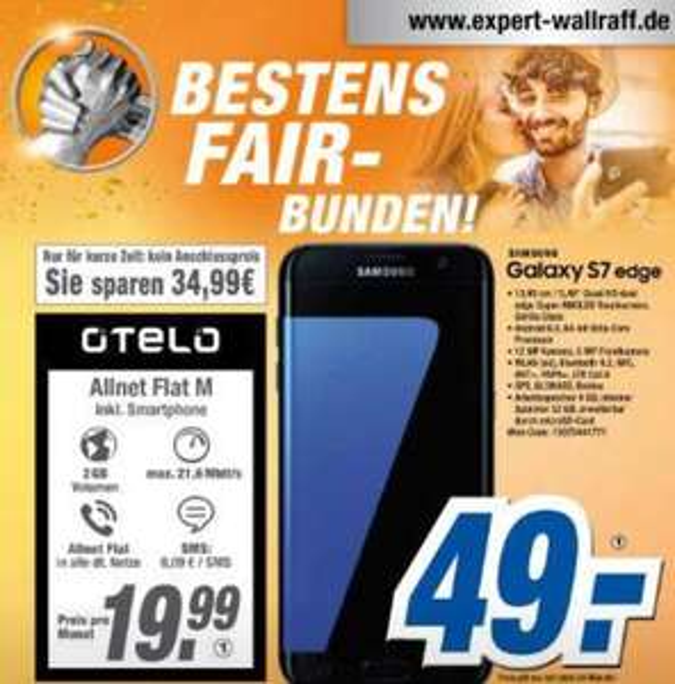 Samsung Galaxy S7 im Otelo Allnet Flat M
