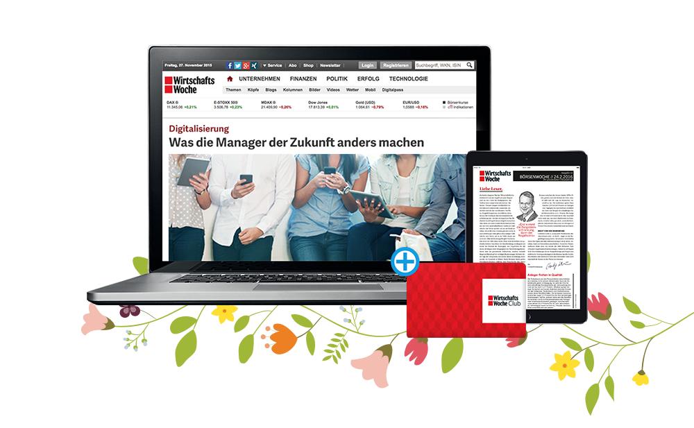 WirtschaftsWoche eMagazin - kostenloser Zugang für 1 Jahr - läuft Automatisch aus.