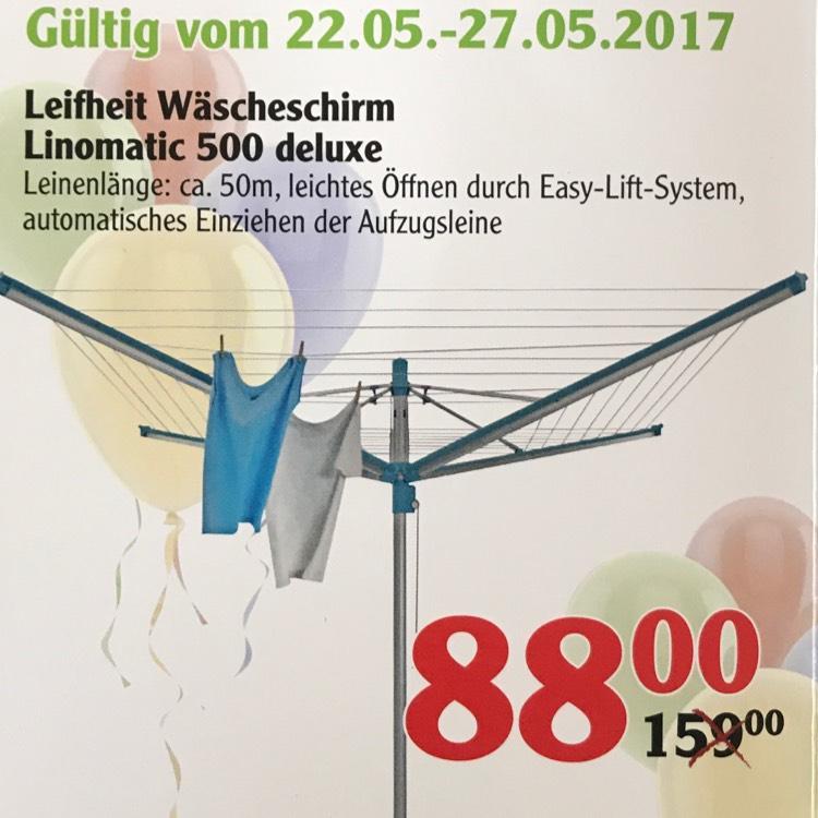 [lokal, Globus Plattling] Leifheit Linomatic 500 deluxe für nur 88 € von 22.05.-27.05.2017 (19 % billiger als VGP)