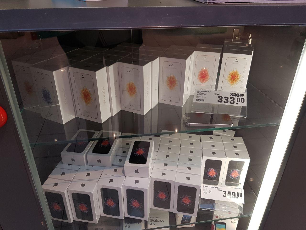 [Lokal] Friedrichsdorf Rewe Center iPhone SE 16GB verschieden Farben für 279,20 und Samsung Galaxy A5(2017) für 266,40€