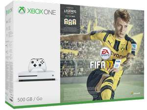 Xbox One S Konsole (500GB) + Fifa 17 + Halo Wars 2 + Gears of War 4 + 3 Monate Xbox Live für 246,25€ inkl. VSK (Shops --> UK)