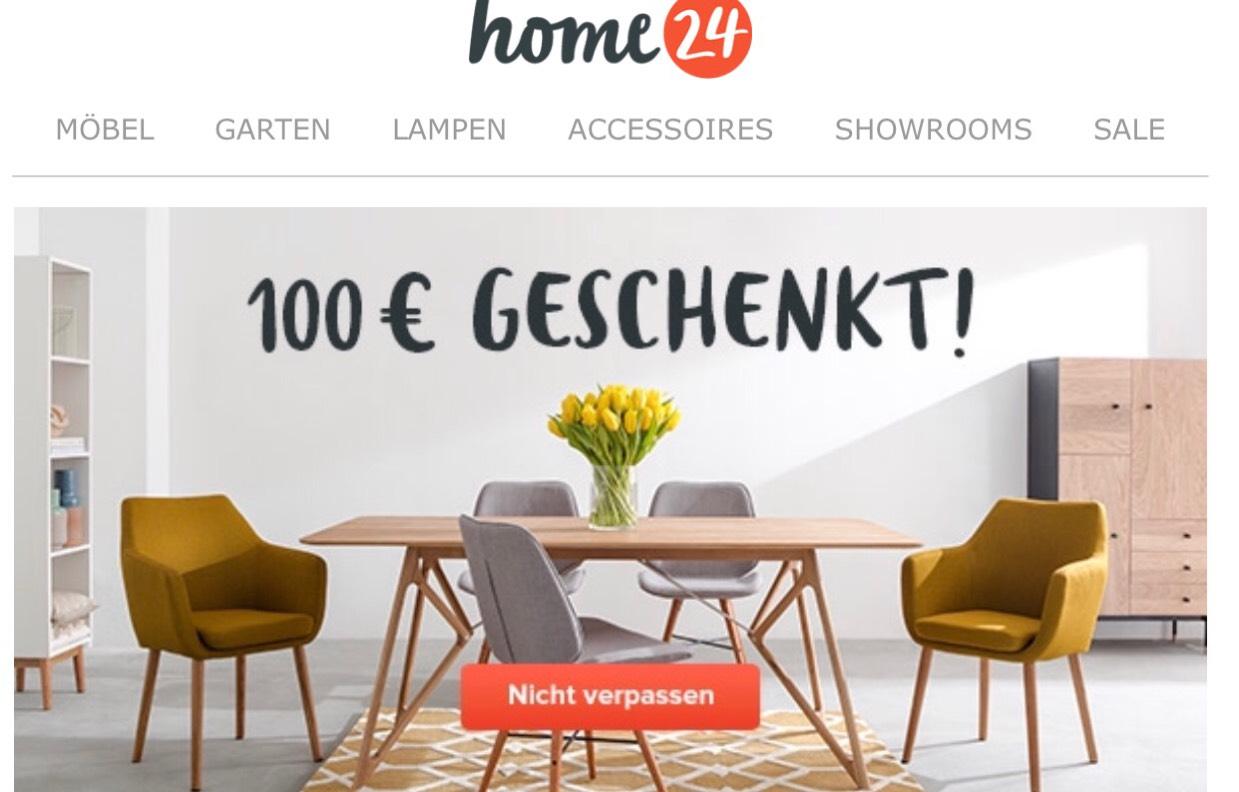 [Home24] 100€ Rabatt bei einem Mindestbestellwert von 450€