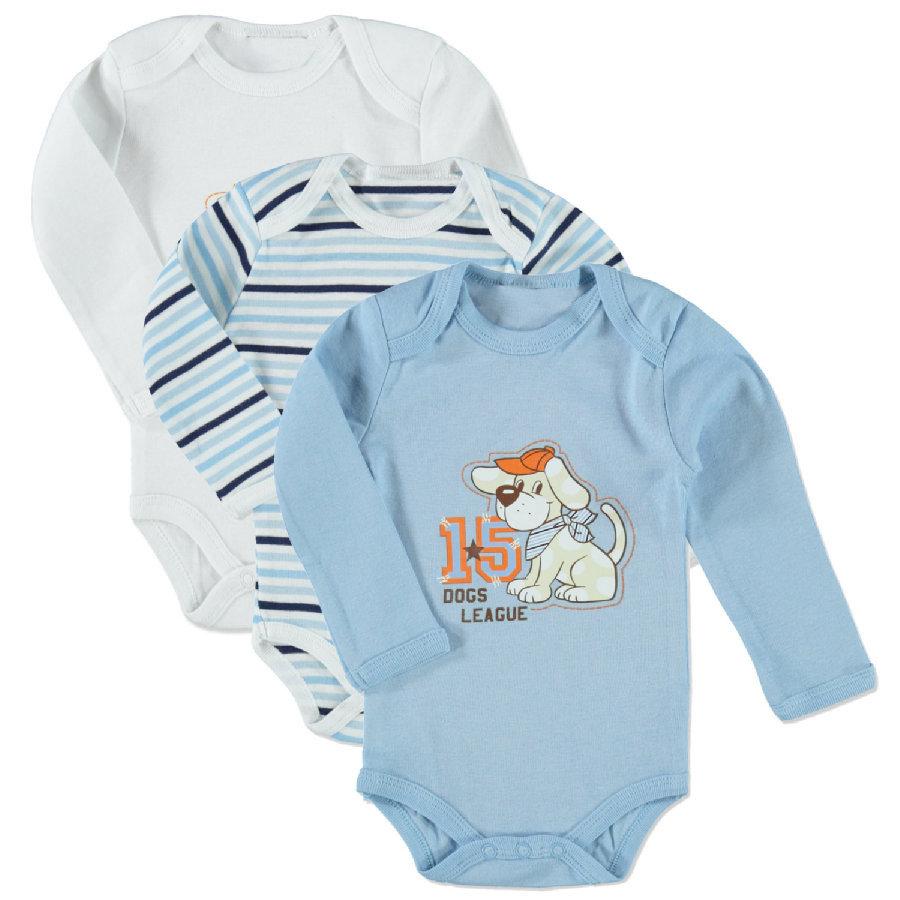 12 Langarm-Bodys aus 100% Baumwolle in 3 Farbvarianten für 22,28€ bei [babymarkt]