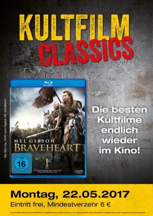 [KINOPOLIS KINOS] 1 Ticket für Braveheart am 22.05. plus 6€ Verzehrgutschein für 6€
