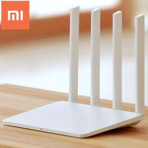 Original English Version Xiaomi Mi WiFi Router 3  - 802.11ac WiFi Standard -  EU PLUG  WHITE