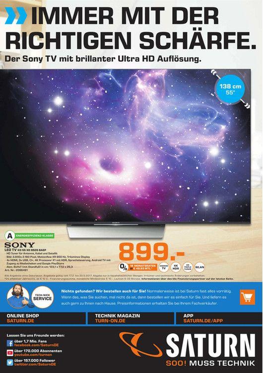 LOKAL Saturn Düren Sony KD-55XD8505 100HZ UHD, HDR