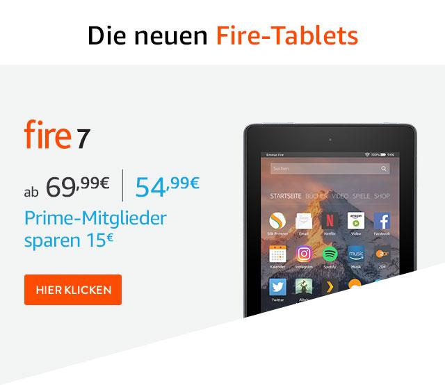15-20€ Rabatt auf neue Fire Tablets + 20% beim Kauf von 3 Stück - z.b. Fire7 + Fire HD8 + Fire Kids 7 für 185€ statt 300€ [amazon Prime]