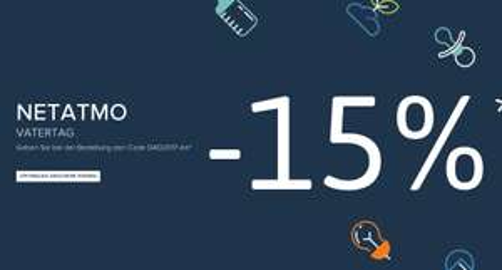 Netatmo Webshop Direktrabatt zum Vatertag 15% sparen