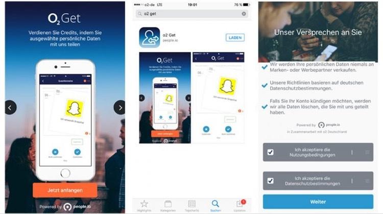 o2 GET App für iOS