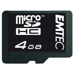 [quentano] 4GB microSD Card (Class4) EMTEC inkl. SD-Adapter und inkl. VSK für 1,99€