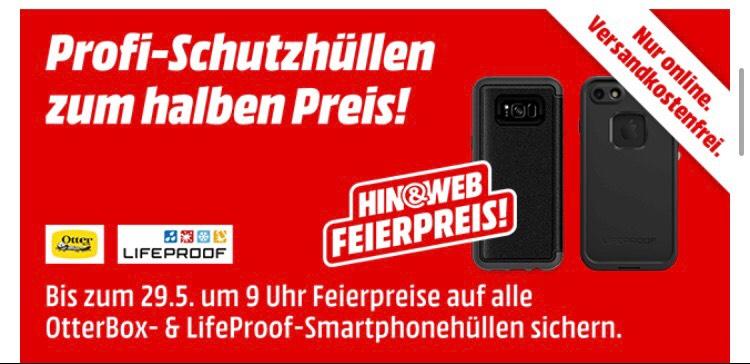 Otterbox und Lifeproof Hüllen zum halben Preis im Media Markt Onlinshop