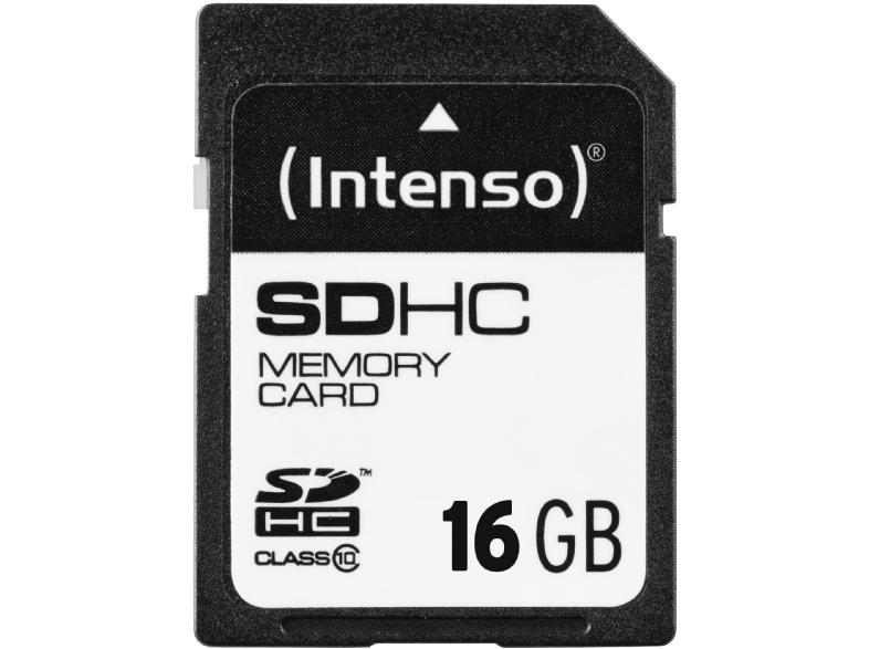 Intenso SDHC Karte, 16GB, Class 10, 20 MB/s lesen, 12 MB/s schreiben für 5 € bei Mediamarkt
