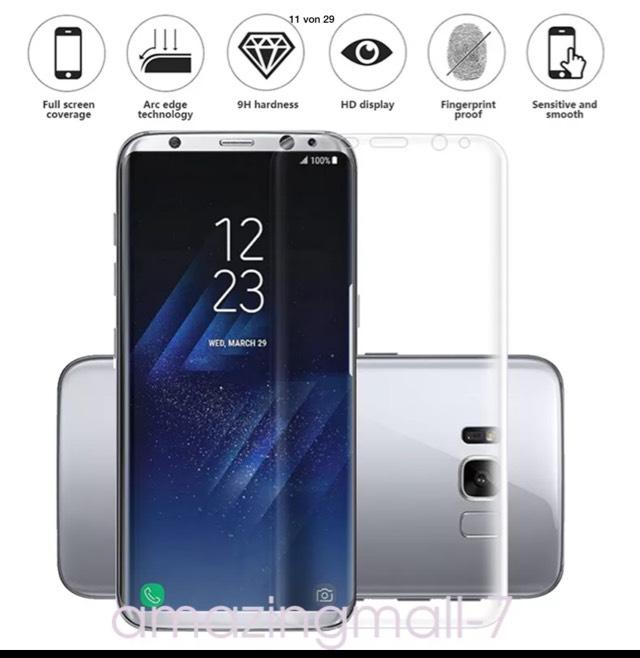 [ebay China] Galaxy S8/S8+ Panzerglas gebogen in div. Farben für 2,12€