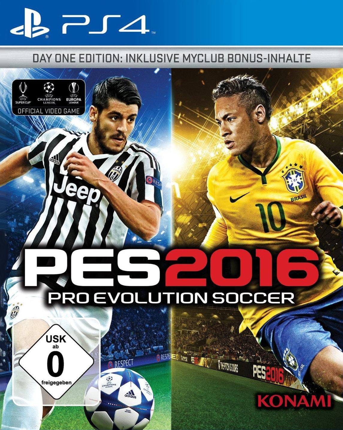 [Saturn] PES 2016 - Pro Evolution Soccer 2016 (Day 1 Edition) für Playstation 4 und Xbox One für 3,-€ **Update.Jetzt Versandkostenfrei