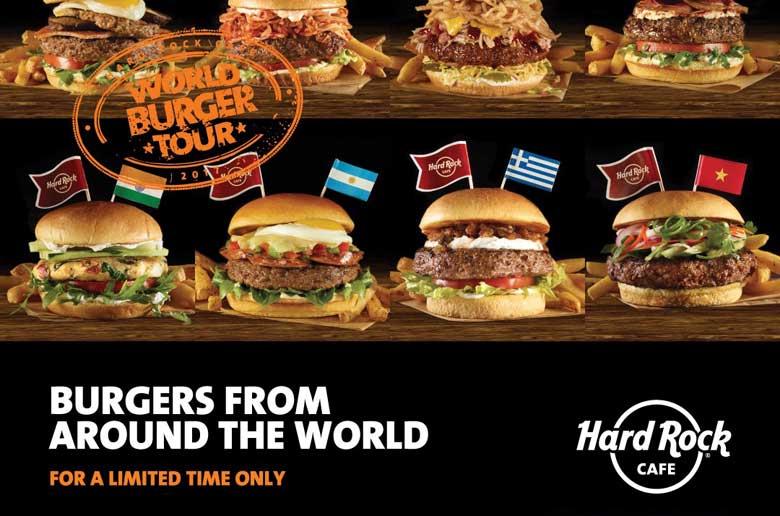 """[lokal München] Bis zu 8 """"World Tour"""" Burger + 2 alkoholische Getränke + Softdrink All you Can drink für 29,95€ @ Hard Rock Cafe München"""