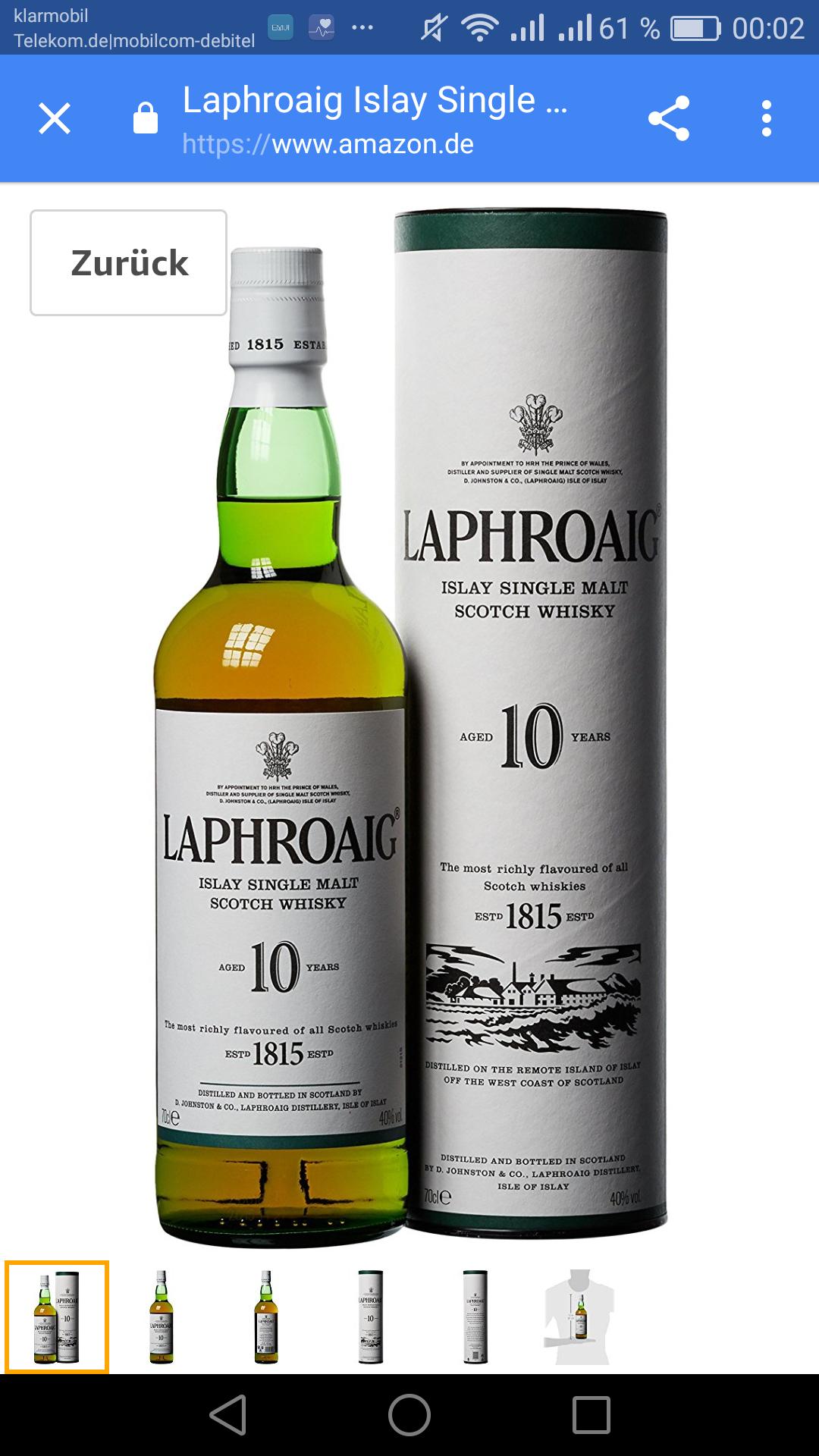 LaphroaigIslaySingleMaltScotch Whisky 10Jahre(1 x 0.7) amazon (prime), oder Buchtrick