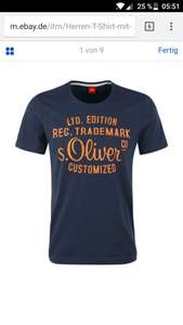 S.oliver t shirt - ebay WOW Angebot
