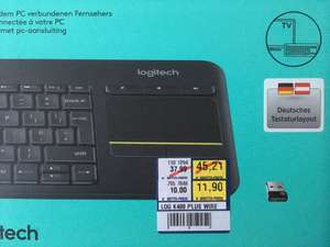 [Metro HH-Rahlstedt] Logitech Wireless Touch Keyboard K400 Plus TV für 11,90€