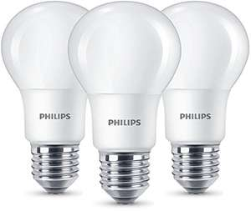 [Amazon Prime] Philips LED Lampe ersetzt 60W, EEK A+, E27, warmweiß (2700K), 806 Lumen, matt, Dreierpack [Energieklasse A+]