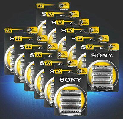48er Pack Sony AA Mignon Ultra Heavy Duty Batterien für 9,99€ (statt 14€)