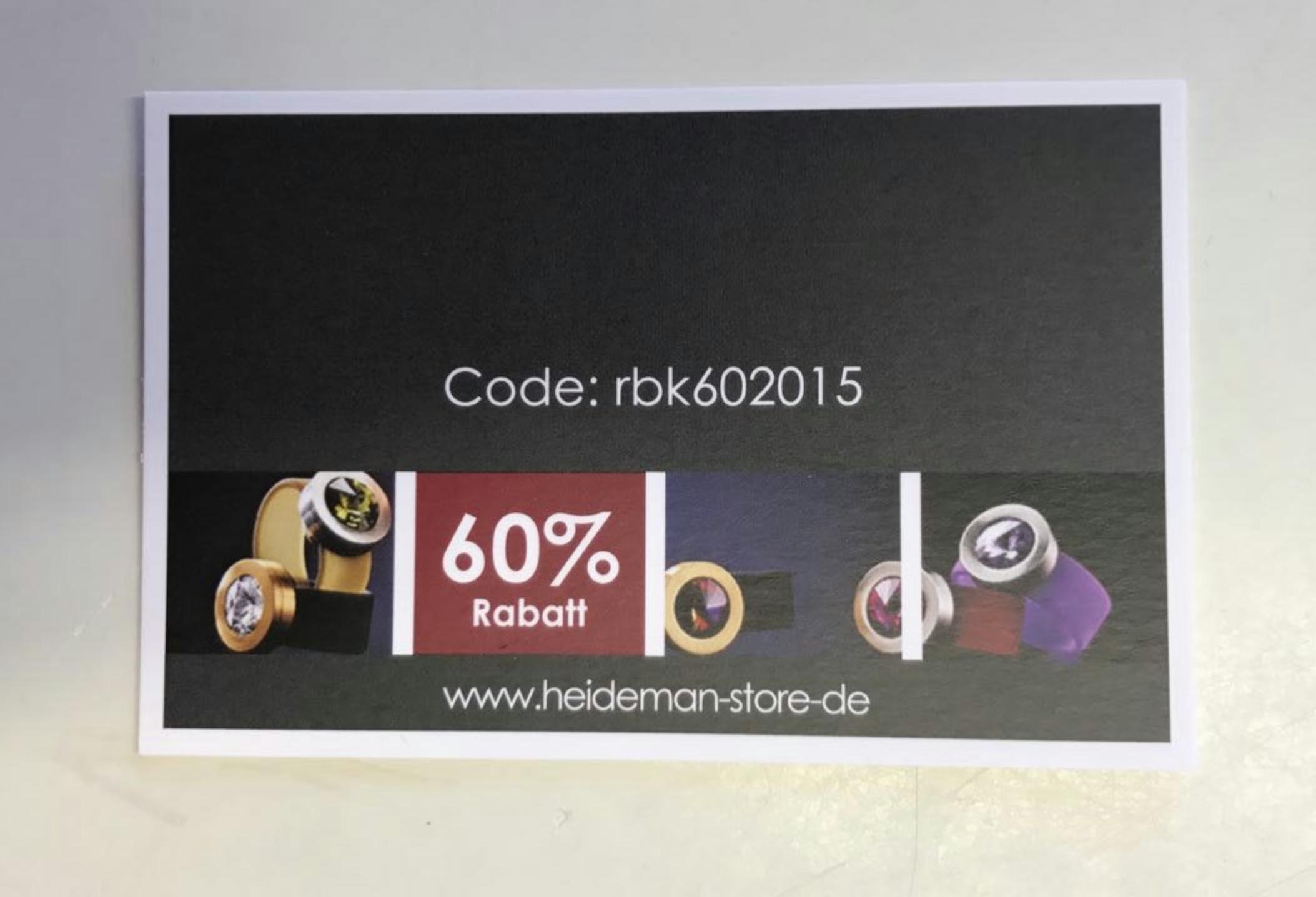 [Schmuck] 60% auf alles bei Heideman.de