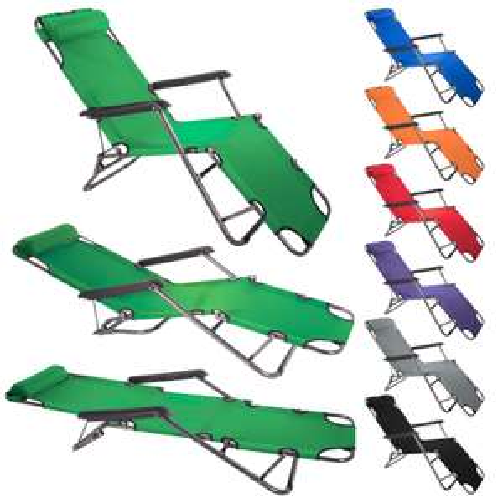 Smartfox Sonnenliege Relaxliege Poolliege Liegestuhl Strandliege verschiedene Farben @ebay 24,99€