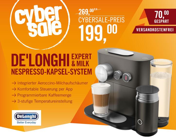 De'Longhi Nespresso Expert & Milk EN 355.GAE - Nespresso Maschine mit Milchaufschäumer, Temperatureinstellung und Bluetooth