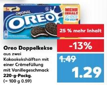 [Kaufland/OFFLINE] Oreo 220g für 1,29€