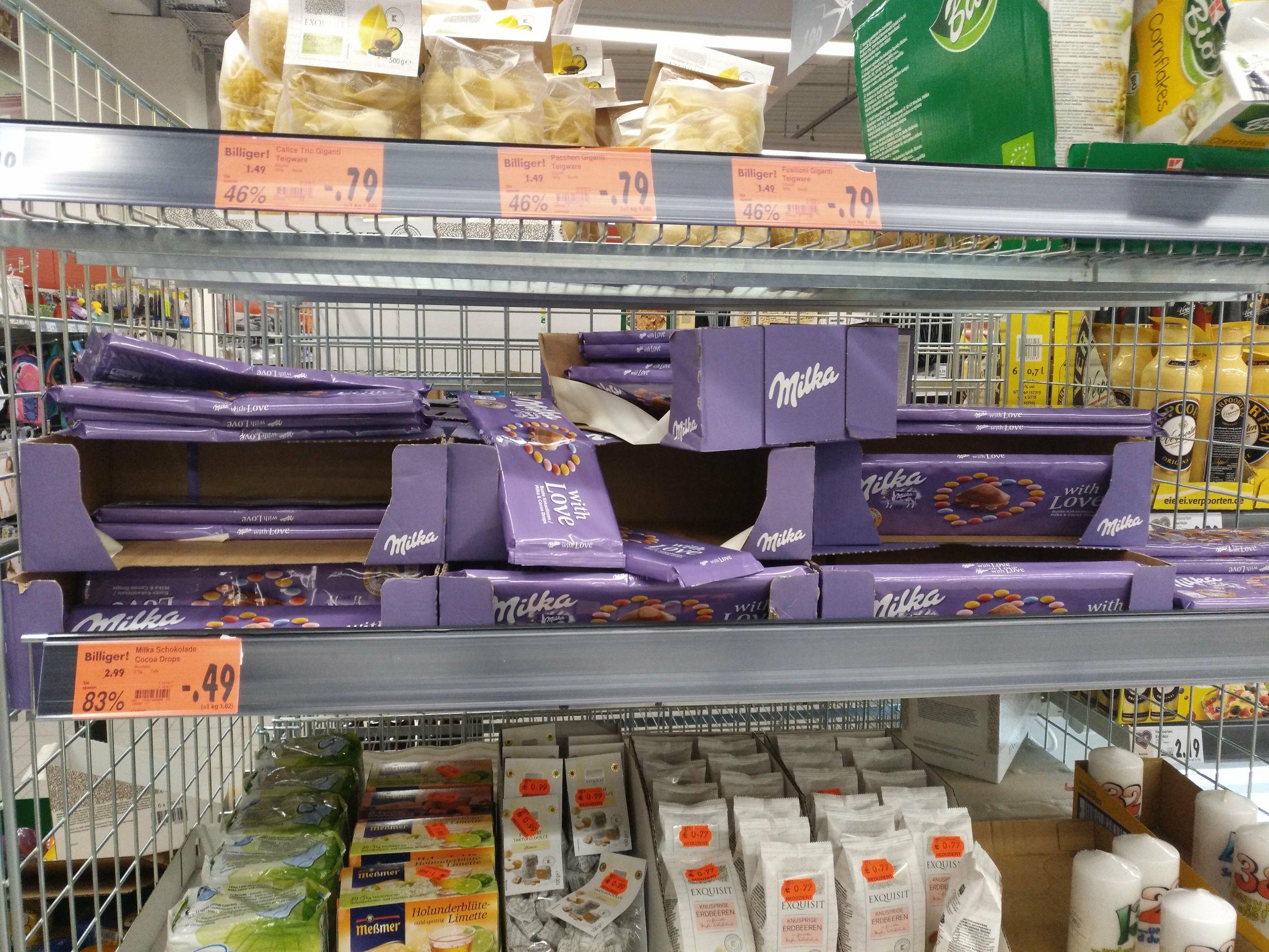 """[Lokal Dortmund Hombruch - Kaufland] Milka Schokolade """"with Love"""" mit Kakaolinsen 270g"""