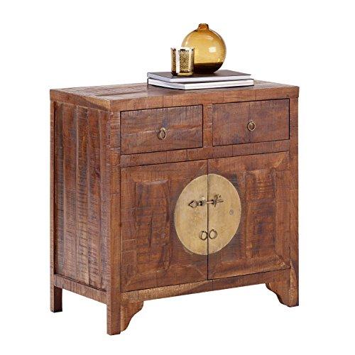 [Amazon] Wolf Möbel: CHINA 8279 Kommode Massivholz Akazie mit 2 Schubladen, 2 Türen, Holz, forest, 42 x 80 x 80 cm für 73,36€