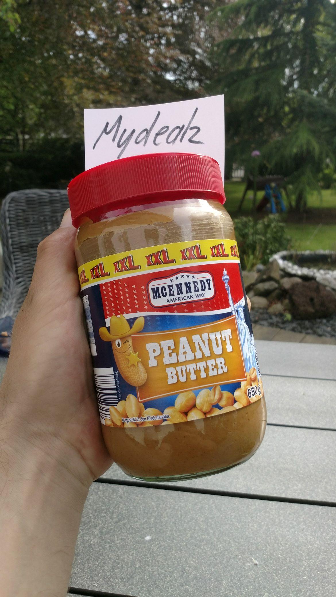 Peanut Butter XXL 650g zu 2,39€ @lidl Erdnussbutter