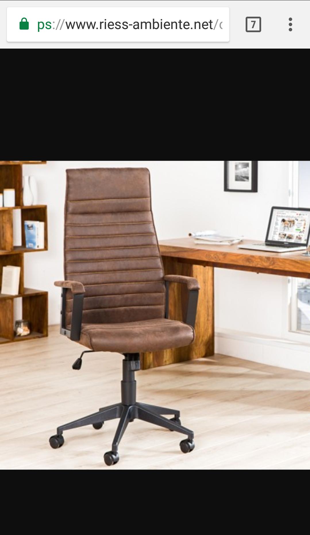 Schicke, extravagante Möbel bis zu 75% im Sale bei Riess-ambiente.net (bspw. abgebildeter Bürostuhl - 109,90€ statt 175,95€)!