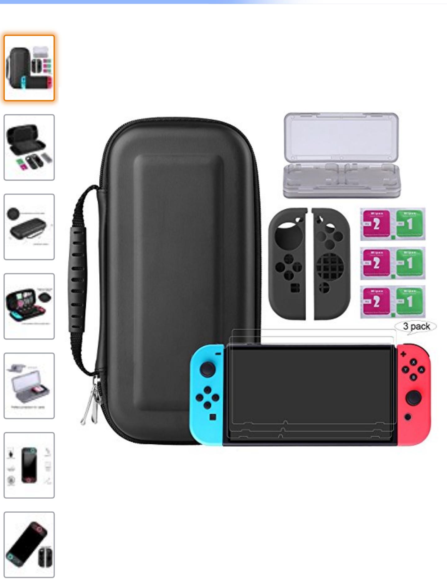 [Amazon - Prime] Bestico Nintendo Switch Schutz Kit, 7 in 1 Switch Schutz Zubehörsetfür nur 13,99 Euro