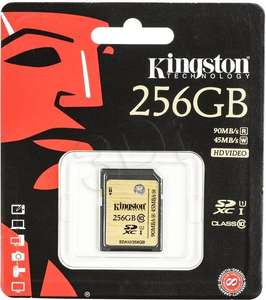 Kingston SDA10/256GB UHS-I SDHC/SDXC SD-Karte Class 10 Speicherkarte [Amazon.de]